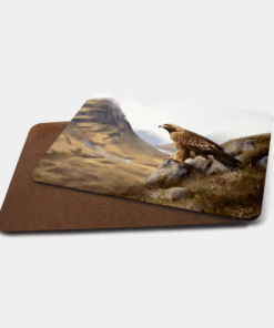 Country Images Personalised Printed Custom Placemats Tablemats Cheap Highland Collection Golden Eagle Bird of Prey Scotland Scottish Gift Gifts Ideas Tableware (Board)