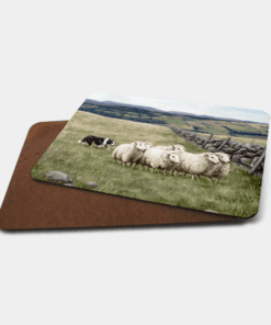 Country Images Personalised Printed Custom Placemats Tablemats Cheap Highland Collection Sheep and Sheepdog Croft Crofting Crofter Farming Dog Trials Scotland Scottish Gift Gifts Ideas Tableware (Board)
