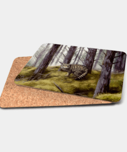 Country Images Personalised Printed Custom Placemats Tablemats Cheap Highland Collection Wildcat Wildcats Wild Cat Cats Scotland Scottish Gift Gifts Ideas Tableware (Cork)