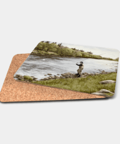 Country Images Personalised Printed Custom Placemats Tablemats Cheap Highland Collection Fly Fishing Scotland Scottish Gift Gifts Ideas Tableware (Cork)