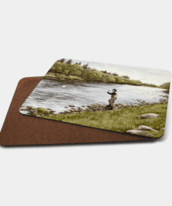 Country Images Personalised Printed Custom Placemats Tablemats Cheap Highland Collection Fly Fishing Scotland Scottish Gift Gifts Ideas Tableware (Board)