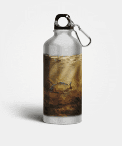 Country Images Aluminium Reusable Water Bottle Metal Common Carp Angling Fishing Angler Sporting Sports Gifts Gift