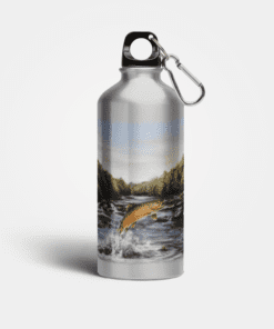 Country Images Aluminium Reusable Water Bottle Metal Highland Collection Brown Trout Fishing Angler Gifts Gift