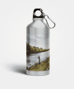 Country Images Aluminium Reusable Water Bottle Metal Highland Collection Fly Angling Fishing Angler Sporting Sports Gifts Gift