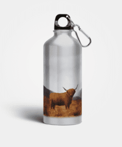 Country Images Aluminium Reusable Water Bottle Metal Highland Collection Highland Cow Fishing Angler Gifts Gift