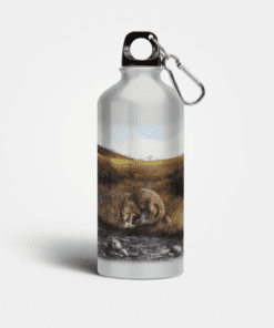 Country Images Aluminium Reusable Water Bottle Metal Highland Collection Otter Gifts Gift