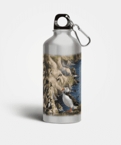 Country Images Aluminium Reusable Water Bottle Metal Highland Collection Puffin Puffins Gifts Gift