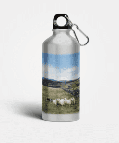 Country Images Aluminium Reusable Water Bottle Metal Highland Collection Sheep and Sheepdog Crofting Crofter Gifts Gift