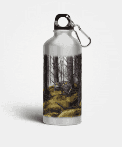 Country Images Aluminium Reusable Water Bottle Metal Highland Collection Wildcat Wild Cat Gifts Gift