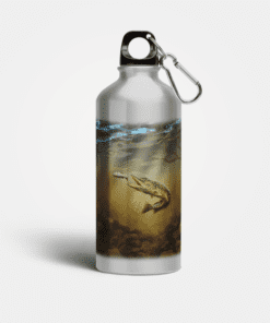 Country Images Aluminium Reusable Water Bottle Metal Pike Angling Fishing Angler Sporting Sports Gifts Gift