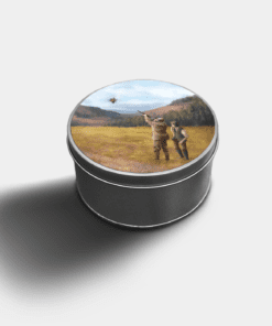 Country Images Custom Customised Personalised Round Tin Printed Gift Gifts Idea Biscuit Sweets Container Tins Clay Pigeon Shooting Gift Gifts Idea Ideas