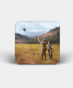 Country Images Personalised Custom Board Coaster Coasters Scotland Highland Collection Clay Pigeon Shooting Hunting Sports Gift Gifts