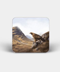 Country Images Personalised Custom Board Coaster Coasters Scotland Highland Collection Golden Eagle Bird of Prey Birds Gift Gifts 4