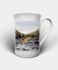 Country Images Personalised Custom Bone China Mug Highland Collection Leaping Brown Trout Fishing Angling Angler Fisherman Fish Gift Gifts Idea Ideas 22