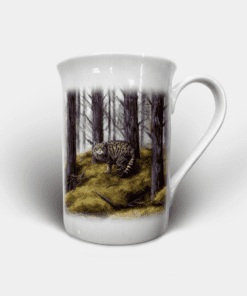 Country Images Personalised Custom Bone China Mug Highland Collection Wildcat Wildcats Wild Cat Cats Gift Gifts Idea Ideas 2