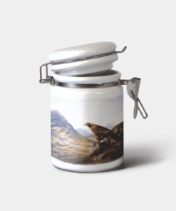 Country Images Personalised Custom Ceramic Hinged Storage Jars Highland Collection Golden Eagle Gifts
