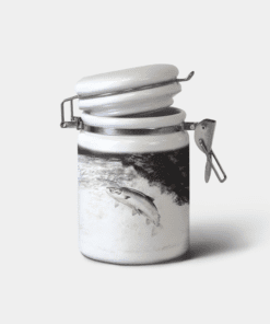 Country Images Personalised Custom Ceramic Hinged Storage Jars Highland Collection Leaping Salmon Fishing Angler Gifts