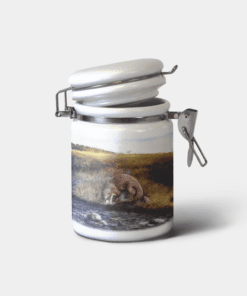 Country Images Personalised Custom Ceramic Hinged Storage Jars Highland Collection Otter Gifts