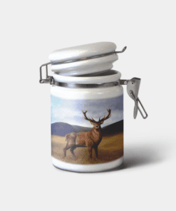 Country Images Personalised Custom Ceramic Hinged Storage Jars Highland Collection Stag Deer Buck Gifts