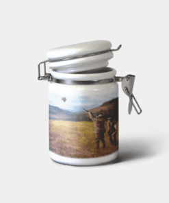 Country Images Personalised Custom Ceramic Hinged Storage Jars Sports Clay Pigeon Shooting Gift Gifts