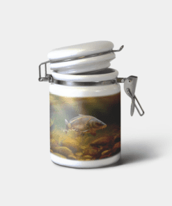 Country Images Personalised Custom Ceramic Hinged Storage Jars Sports Mirror Carp Fishing Angling Gift Gifts