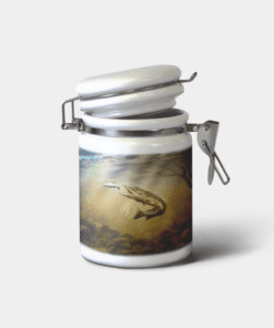 Country Images Personalised Custom Ceramic Hinged Storage Jars Sports Pike Fishing Angling Gift Gifts
