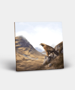 Country Images Personalised Custom Ceramic Tile Tiles Scotland Highland Collection Golden Eagle Birds Nature Wildlife Gift Gifts