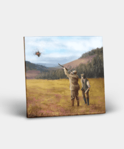 Country Images Personalised Custom Ceramic Tile Tiles Scotland Scotland Clay Pigeon Shooting Sports Hunting Gift Gifts