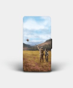 Country Images Personalised Custom Customised Flip Phone Cover Case Scotland Scottish Highlands Clay Pigeon Shooting Gift Gifts