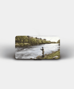 Country Images Personalised Custom Customised Flip Phone Cover Case Scotland Scottish Highlands Fly Fishing Gift Gifts Angling
