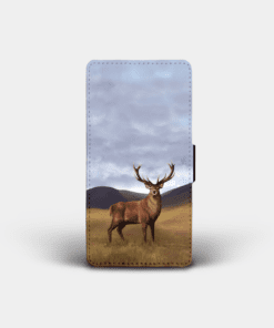 Country Images Personalised Custom Customised Flip Phone Cover Case Scotland Scottish Highlands Highland Stag Stags Deer Gift Gifts