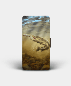 Country Images Personalised Custom Customised Flip Phone Cover Case Scotland Scottish Highlands Pike Fishing Gift Gifts Angling