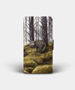 Country Images Personalised Custom Customised Flip Phone Cover Case Scotland Scottish Highlands Wildcat Wildcats Wild Cat Gift Gifts