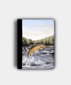 Country Images Personalised Custom Customised Flip iPad Cover Case Scotland Scottish Highlands Brown Trout Angling Angler Fishing Gift Gifts 2