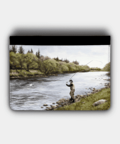 Country Images Personalised Custom Customised Flip iPad Cover Case Scotland Scottish Highlands Fly Angling Angler Fishing Gift Gifts 2