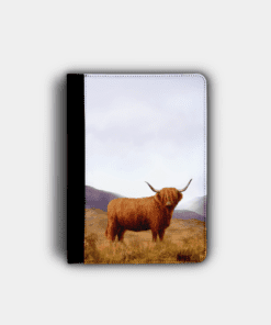 Country Images Personalised Custom Customised Flip iPad Cover Case Scotland Scottish Highlands Highland Cow Hairy Coo Gift Gifts