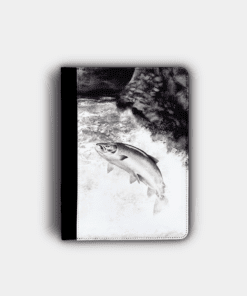 Country Images Personalised Custom Customised Flip iPad Cover Case Scotland Scottish Highlands Leaping Salmon Angling Angler Fishing Gift Gifts 2