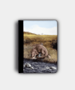 Country Images Personalised Custom Customised Flip iPad Cover Case Scotland Scottish Highlands Otter Otters Gift Gifts