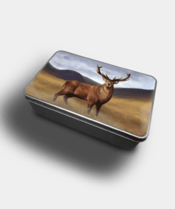 Country Images Personalised Custom Customised Rectangular Tin Tins Scotland Scottish Highland Highlands Biscuit Sweet Stag Stags Deer