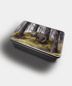 Country Images Personalised Custom Customised Rectangular Tin Tins Scotland Scottish Highland Highlands Biscuit Sweet Wildcat Wildcats Wild Cat Cats