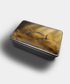 Country Images Personalised Custom Customised Rectangular Tin Tins Scotland Scottish Highlands Biscuit Sweet Common Carp Fishing Gift Gifts Angling 1