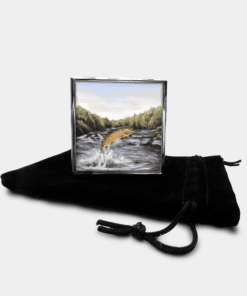 Country Images Personalised Custom Metal Pill Boxes Box Scotland Highlands Brown Trout Angling Angler Fishing Gift Gifts 1