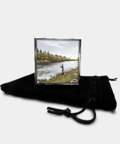 Country Images Personalised Custom Metal Pill Boxes Box Scotland Highlands Fly Angling Angler Fishing Gift Gifts