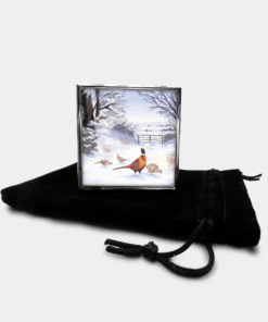 Country Images Personalised Custom Metal Pill Boxes Box Scotland Highlands Highland Pheasant Pheasants Gift Gifts