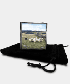 Country Images Personalised Custom Metal Pill Boxes Box Scotland Highlands Sheep Sheepdog Dog Dogs Crofting Crofter Farming Gift Gifts