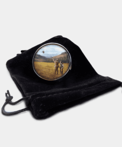 Country Images Personalised Custom Round Metal Pill Boxes Box Scotland Clay Pigeon Shooting Shooter Hunting Skeet Gift Gifts
