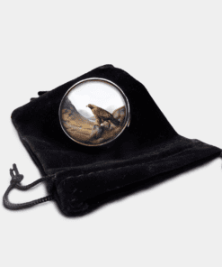 Country Images Personalised Custom Round Metal Pill Boxes Box Scotland Highlands Golden Eagle Eagles Bird of Prey Gift Gifts