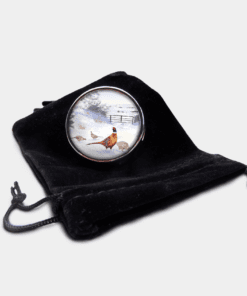 Country Images Personalised Custom Round Metal Pill Boxes Box Scotland Highlands Pheasant Pheasants Shooting Gamebird Bird Birds Gift Gifts