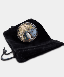 Country Images Personalised Custom Round Metal Pill Boxes Box Scotland Highlands Puffin Puffins Coastal Sea Bird Birds Seabird Gift Gifts