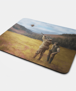 Country Images Personalised Fabric Custom Customised Mousemat Cheap Scotland UK Clay Pigeon Shooting Sport Sports Club Gift Gifts Ideas